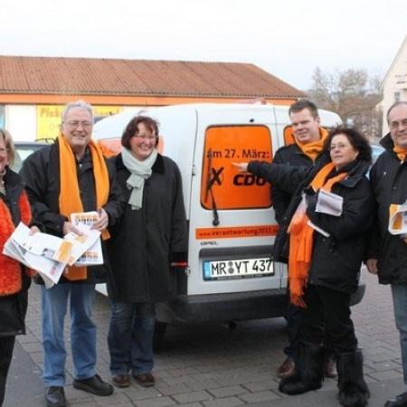 CDU Wahlkampf vor Ort