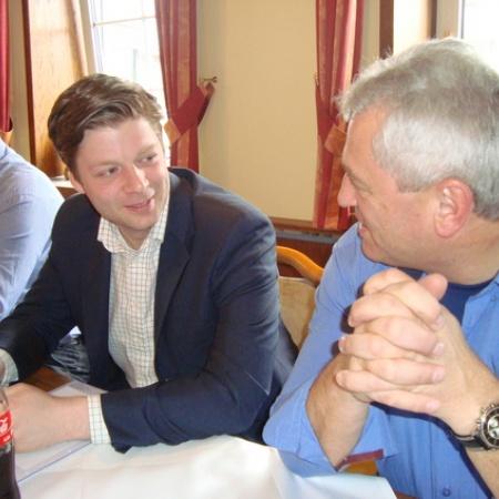 Dr. Stefan Heck und Armin Reichel während der Tagung